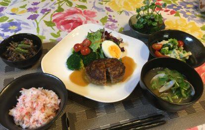 和風ハンバーグ春料理教室福岡アロマガーデン
