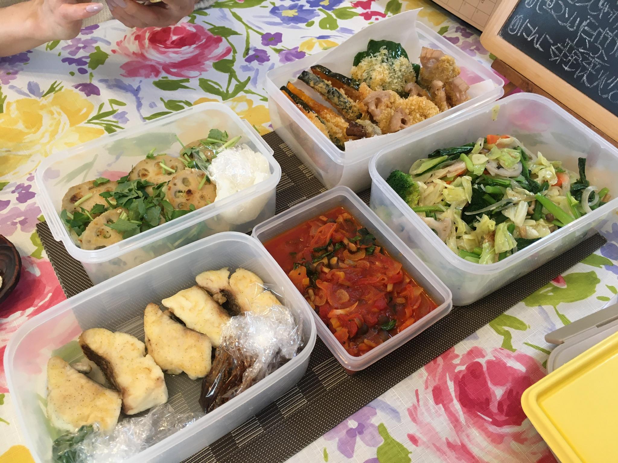 料理教室マンツーマン野菜フライ定食セット