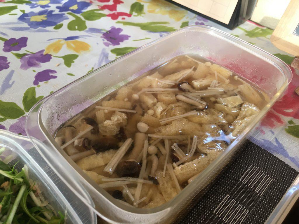 料理教室マンツーマンきのこ味噌汁
