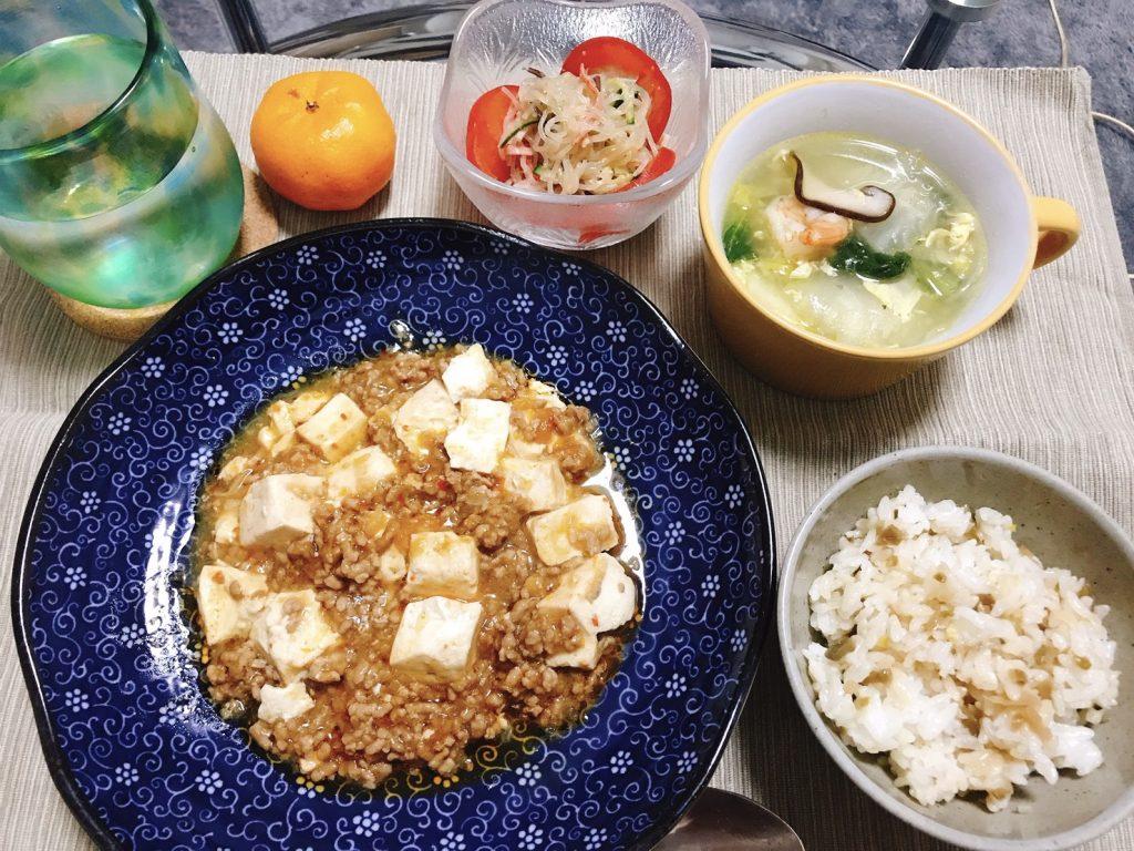 料理教室マンツーマン麻婆豆腐セット盛り付け