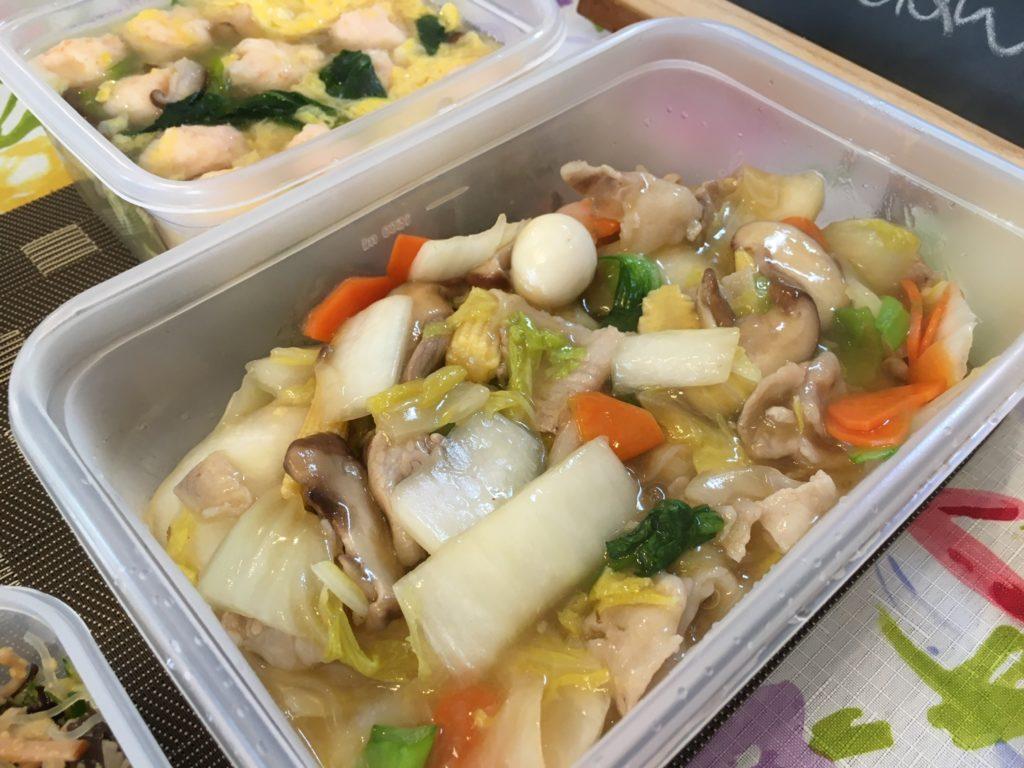 料理教室マンツーマン八宝菜