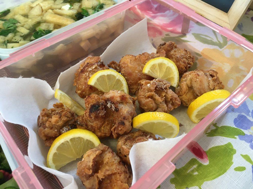 料理教室マンツーマン鶏の唐揚げ