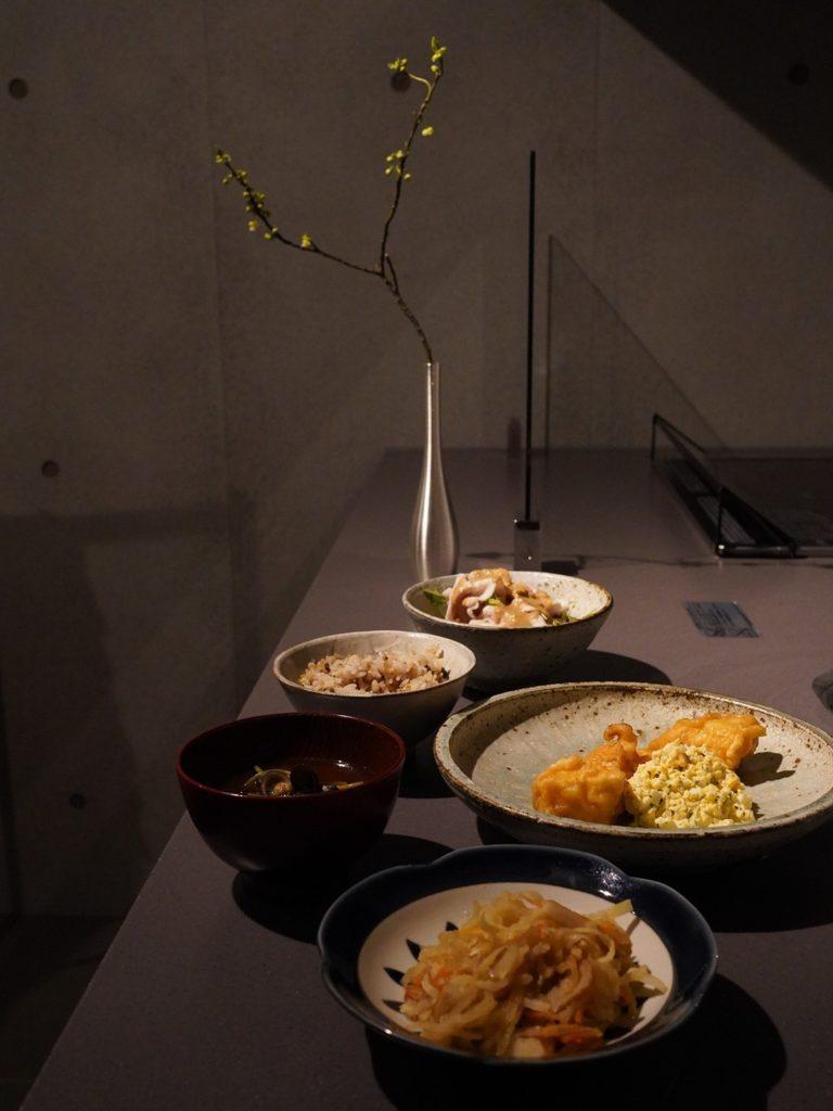 料理教室マンツーマンチキン南蛮セット盛り付け