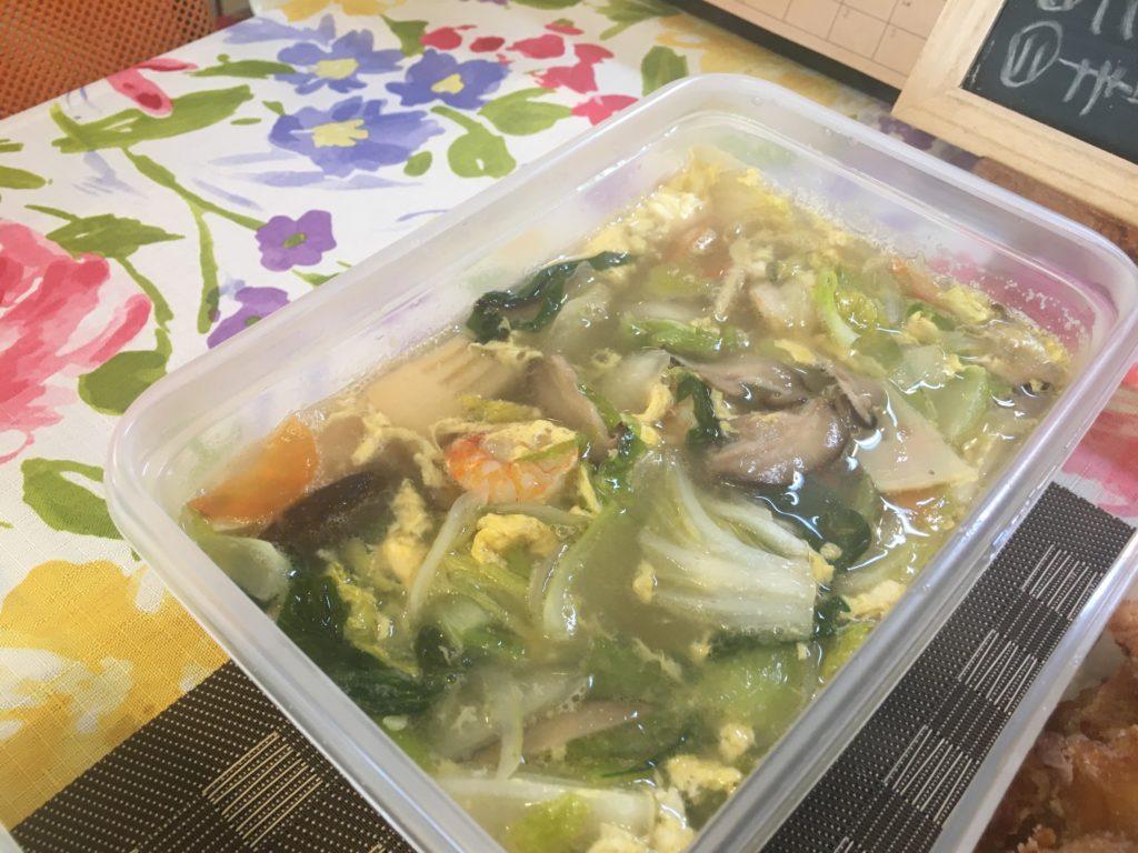 料理教室マンツーマン八宝菜風スープ