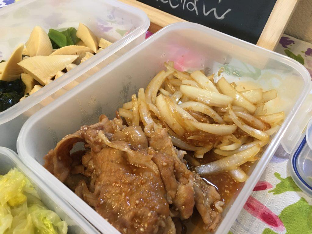 料理教室マンツーマン生姜焼き