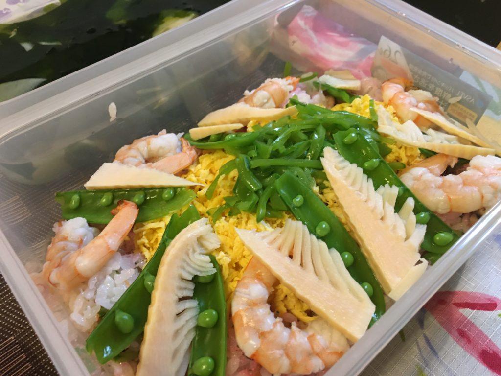 料理教室マンツーマンちらし寿司