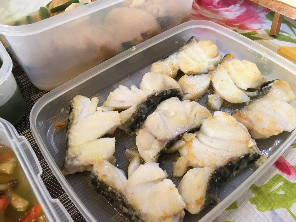 料理教室マンツーマン鱈のソテー