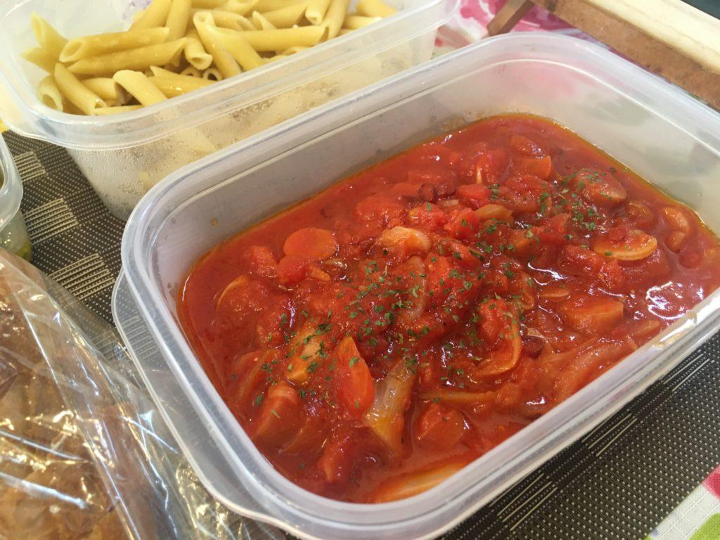 料理教室マンツーマンペンネアラビアータソース