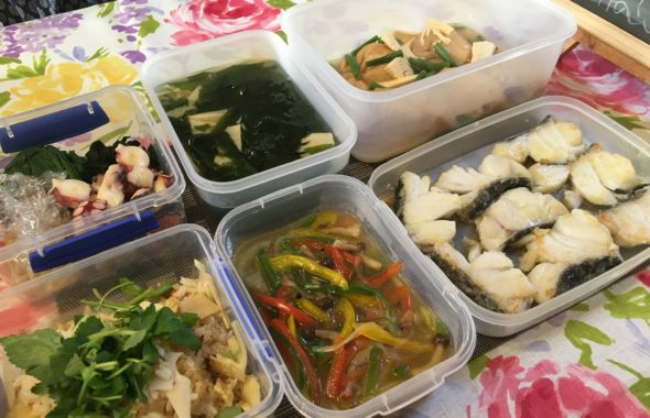 料理教室マンツーマン鱈のカラフル野菜あんかけセット