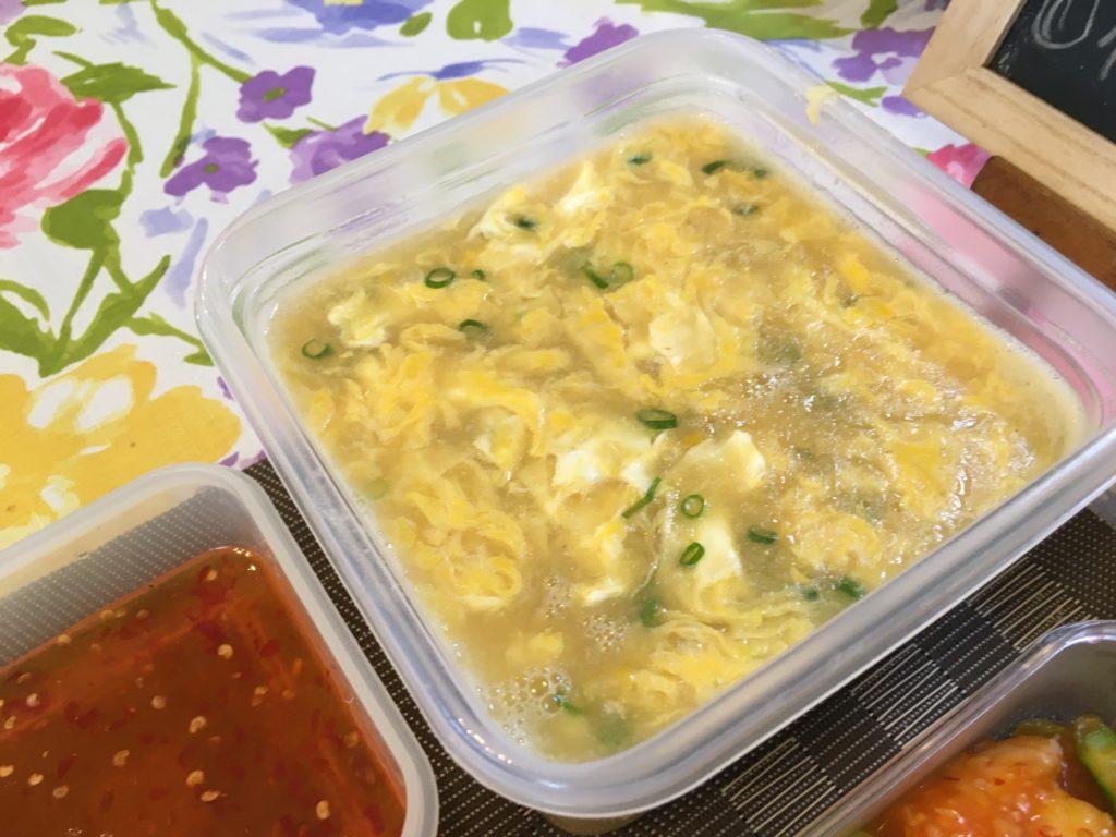 料理教室マンツーマン中華コーンスープ