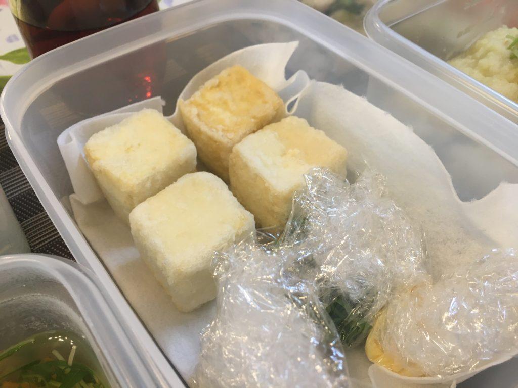 料理教室マンツーマン揚げ出し豆腐