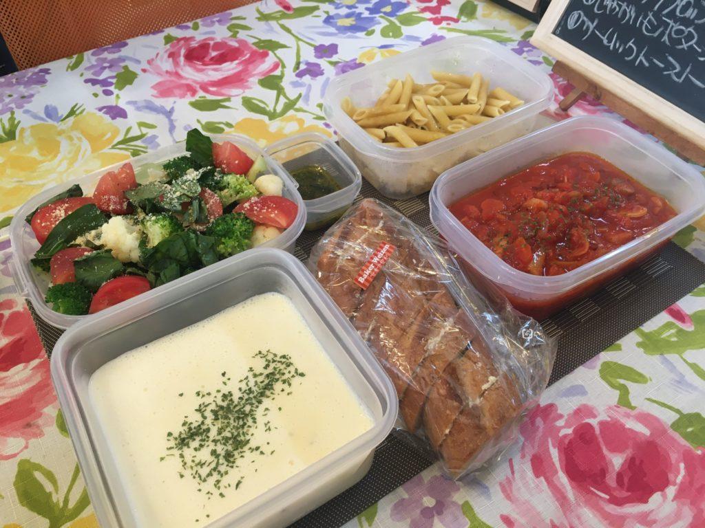 料理教室マンツーマンペンネアラビアータセット