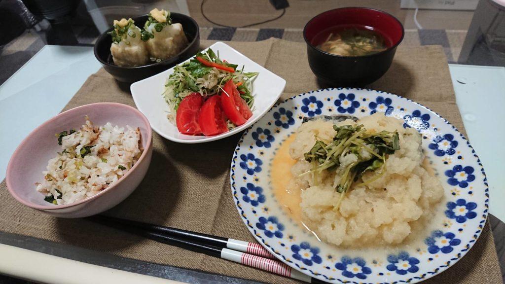 料理教室マンツーマン揚げ出し豆腐セット盛り付け