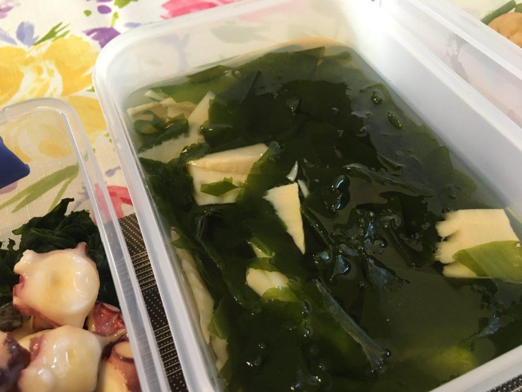 料理教室マンツーマン若竹汁