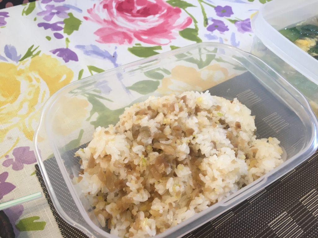 料理教室マンツーマンザーサイ混ぜご飯