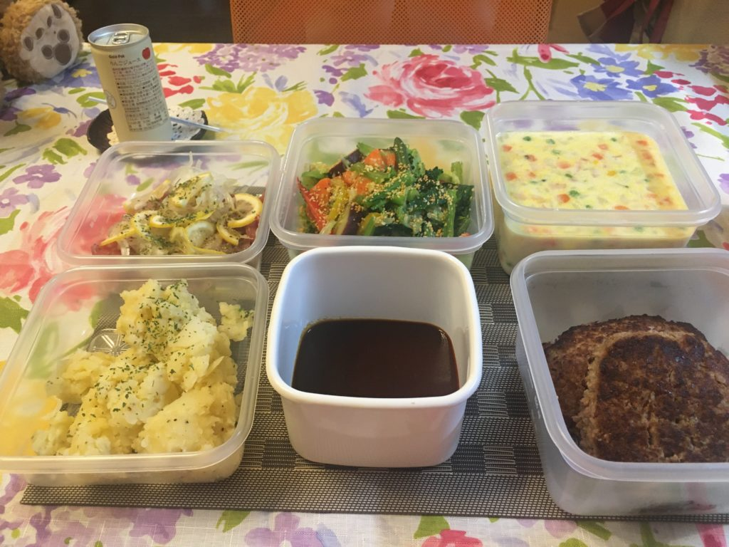 料理教室マンツーマンデミハンバーグセット