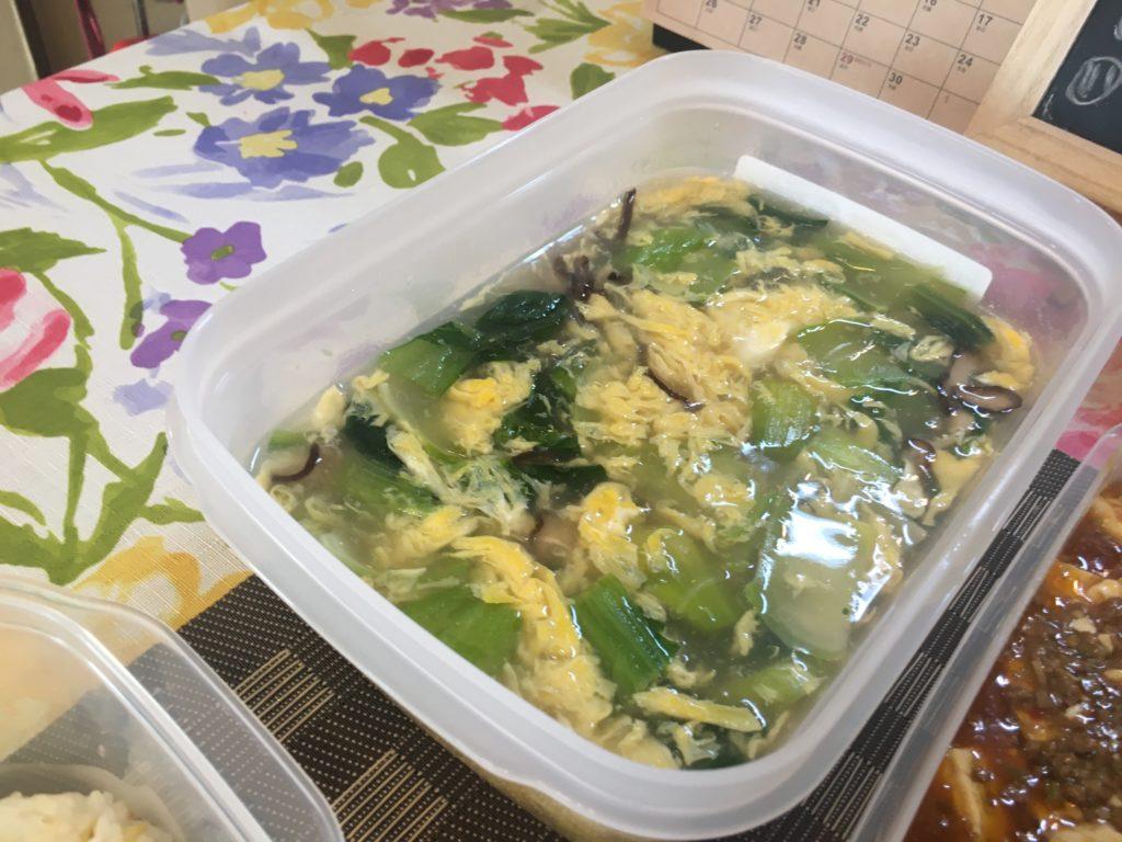 料理教室マンツーマン卵スープ