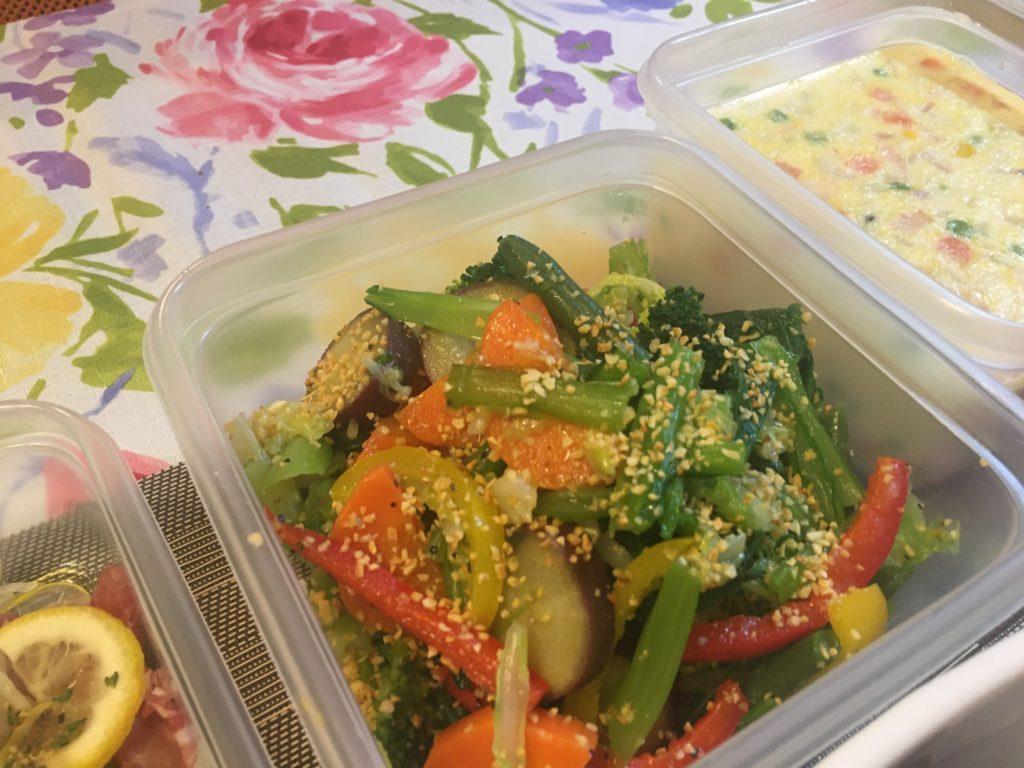 料理教室マンツーマン温野菜サラダ