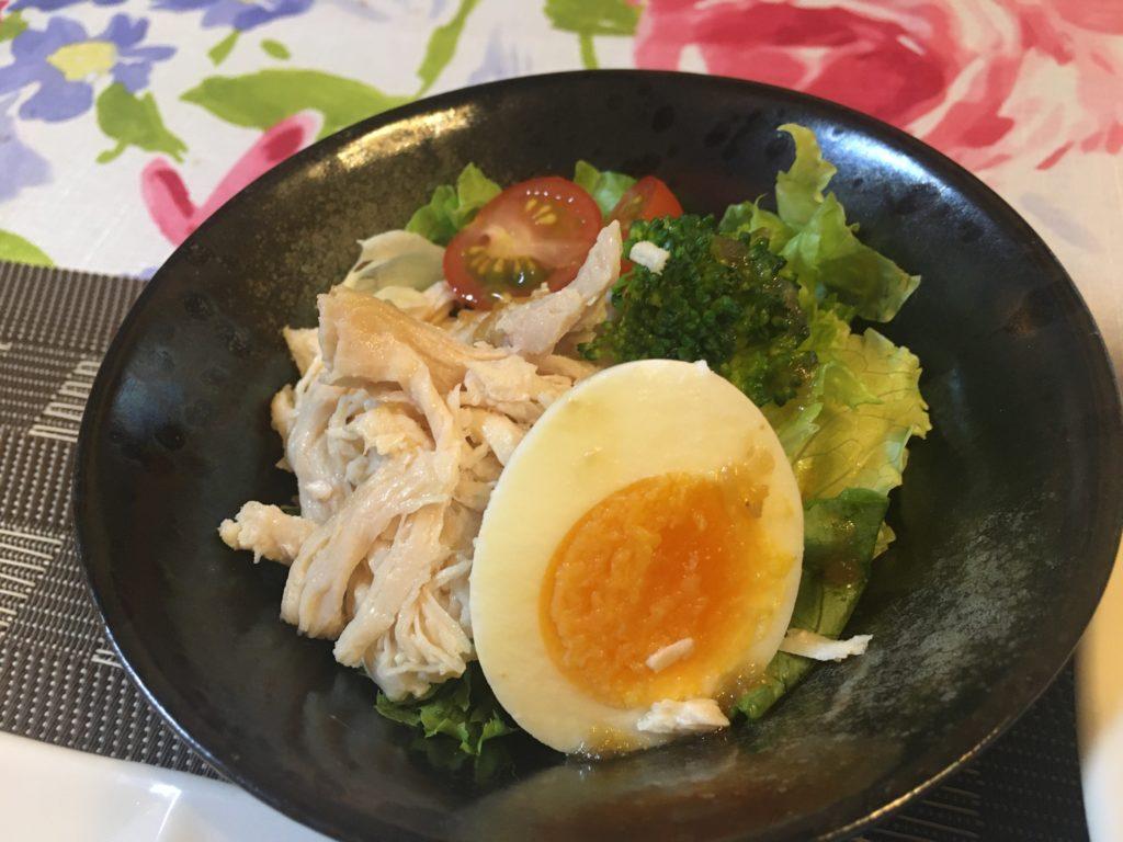料理教室マンツーマン鶏むね肉サラダ