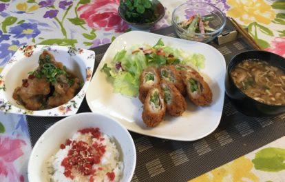 料理教室マンツーマン豚インゲンチーズ巻き揚げセット