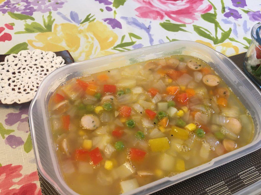 料理教室マンツーマンお野菜いっぱいスープ