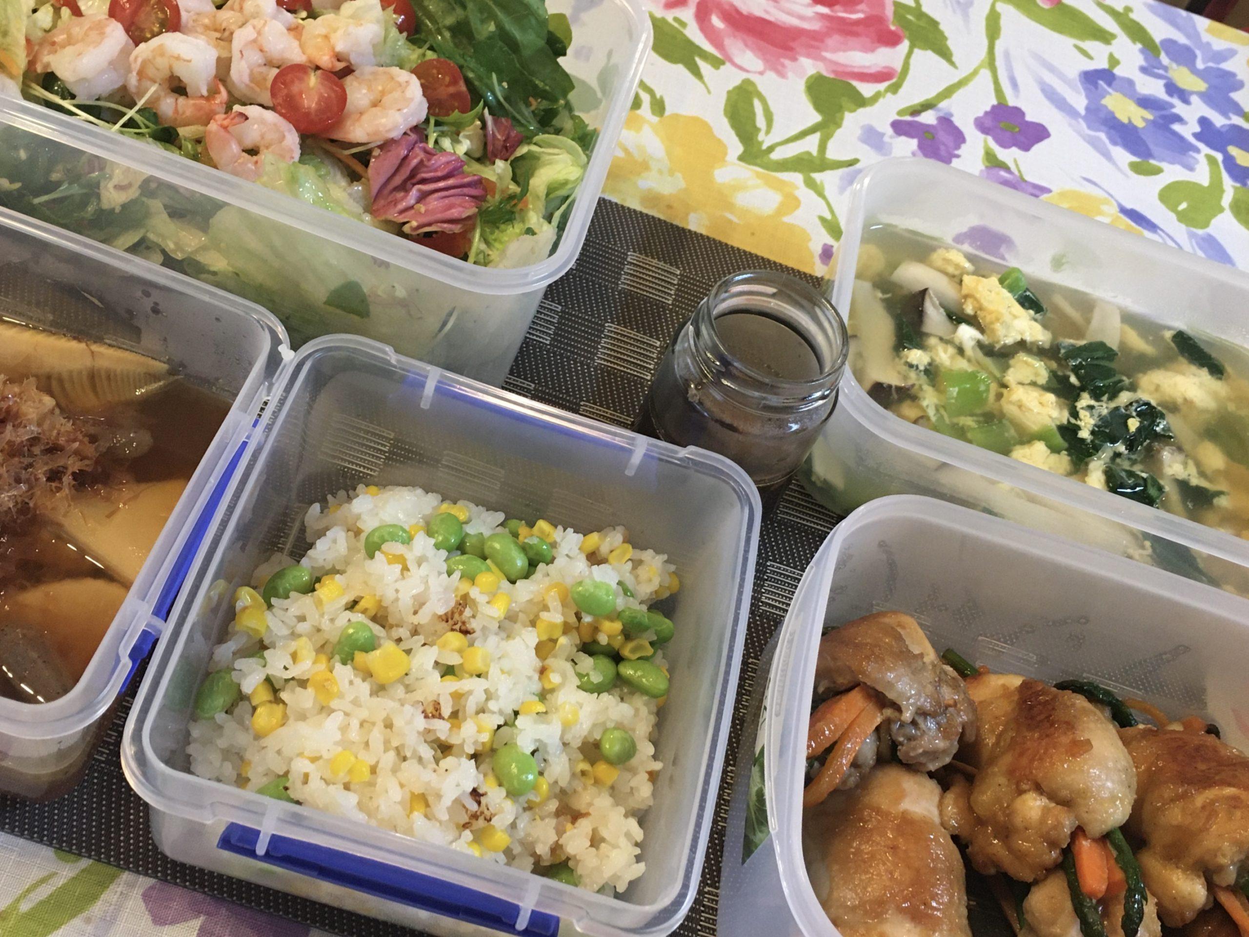 料理教室マンツーマン鶏野菜巻きセット