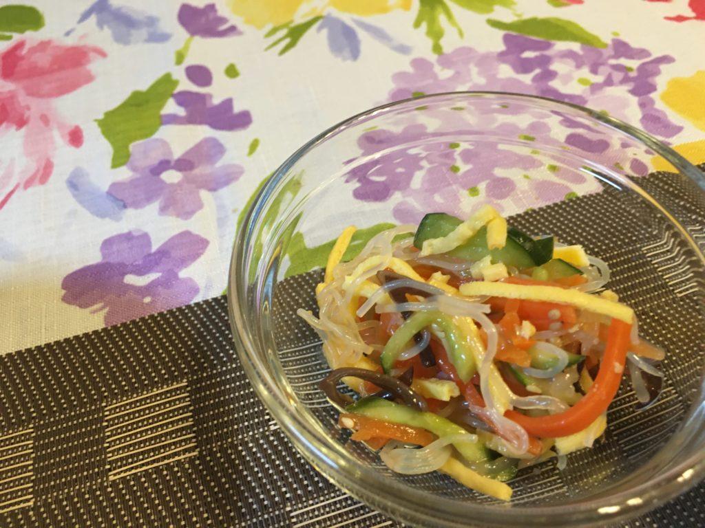 料理教室マンツーマン春雨サラダ