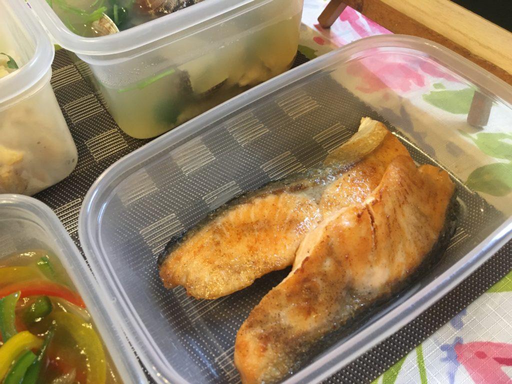 料理教室マンツーマン鮭