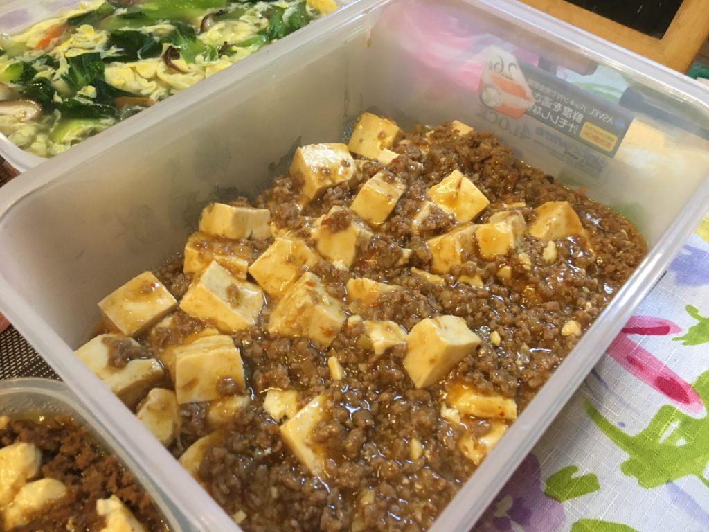 料理教室マンツーマン麻婆豆腐