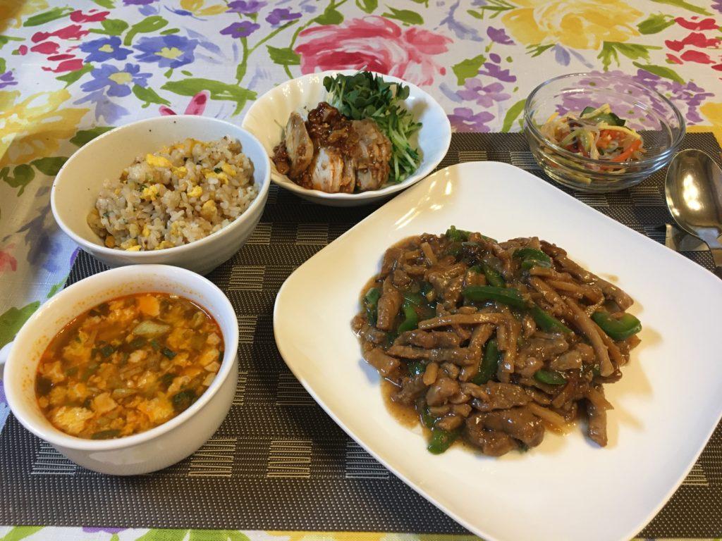 料理教室マンツーマン青椒肉絲セット