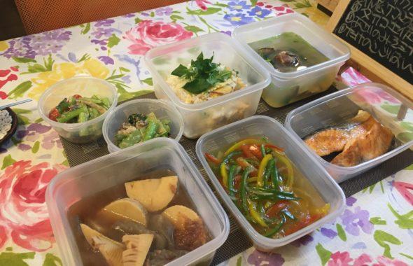 料理教室マンツーマン鮭カラフル野菜あんかけセット