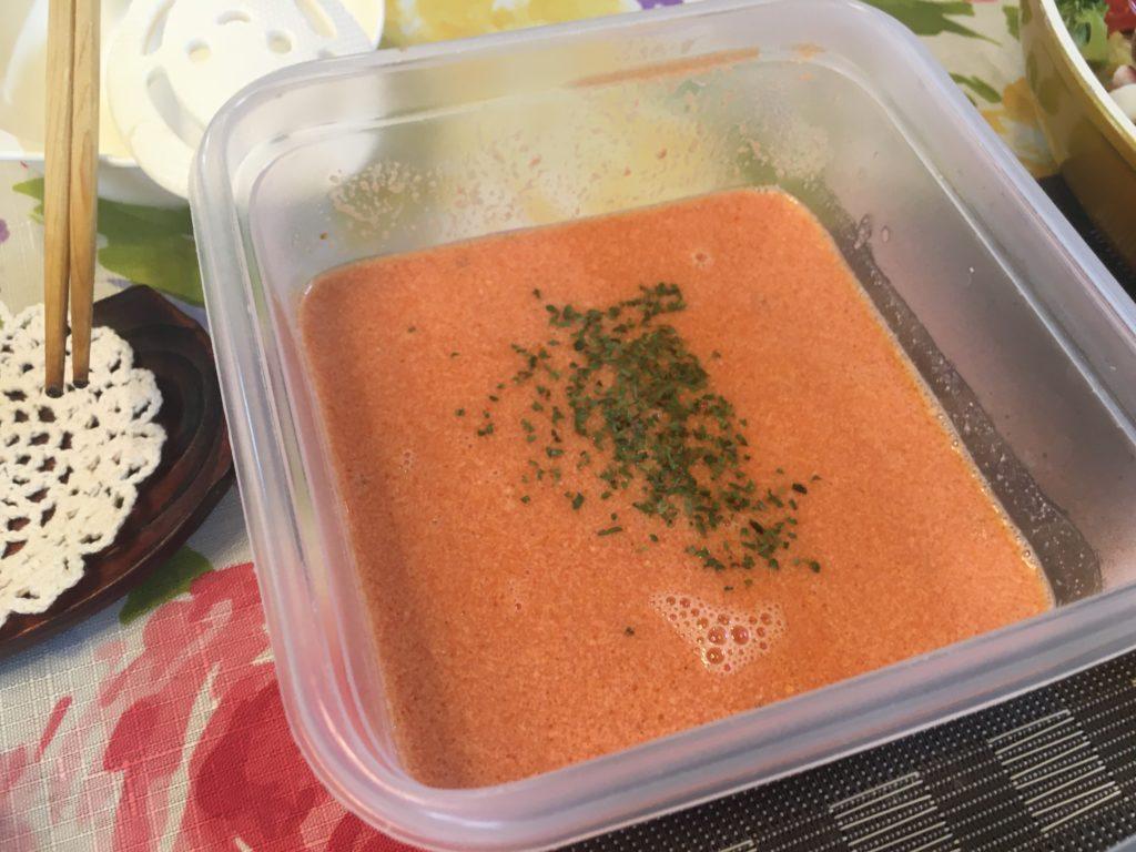 料理教室マンツーマントマトクリームスープ