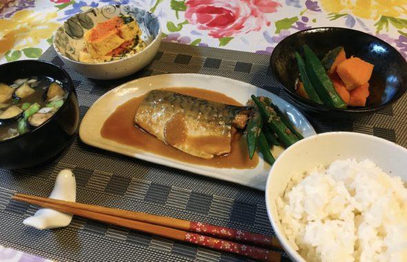 料理教室マンツーマンサバ味噌定食