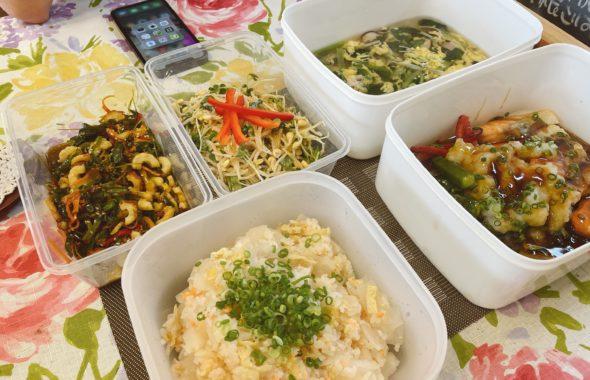 料理教室マンツーマン鮭野菜みぞれあんかけセット