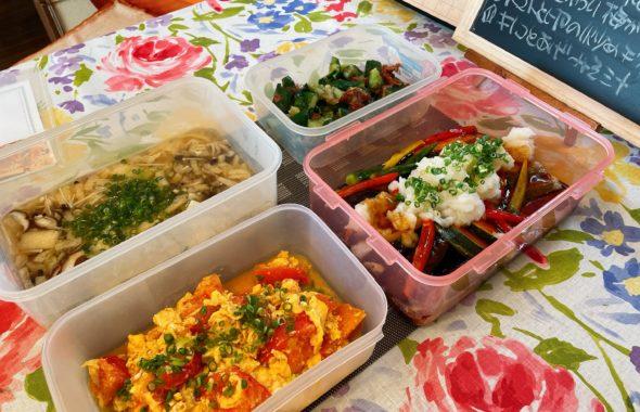 料理教室マンツーマン鮭野菜あんかけセット