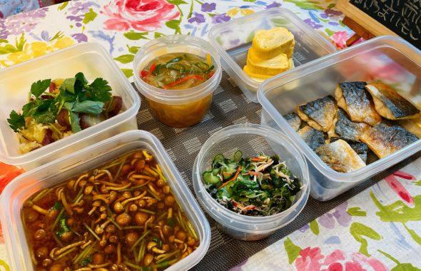 料理教室マンツーマンサバのカラフル野菜あんかけセット